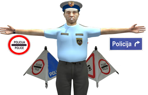 znaki policista