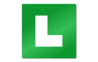 L tablica za vožnjo s spremljevalcem