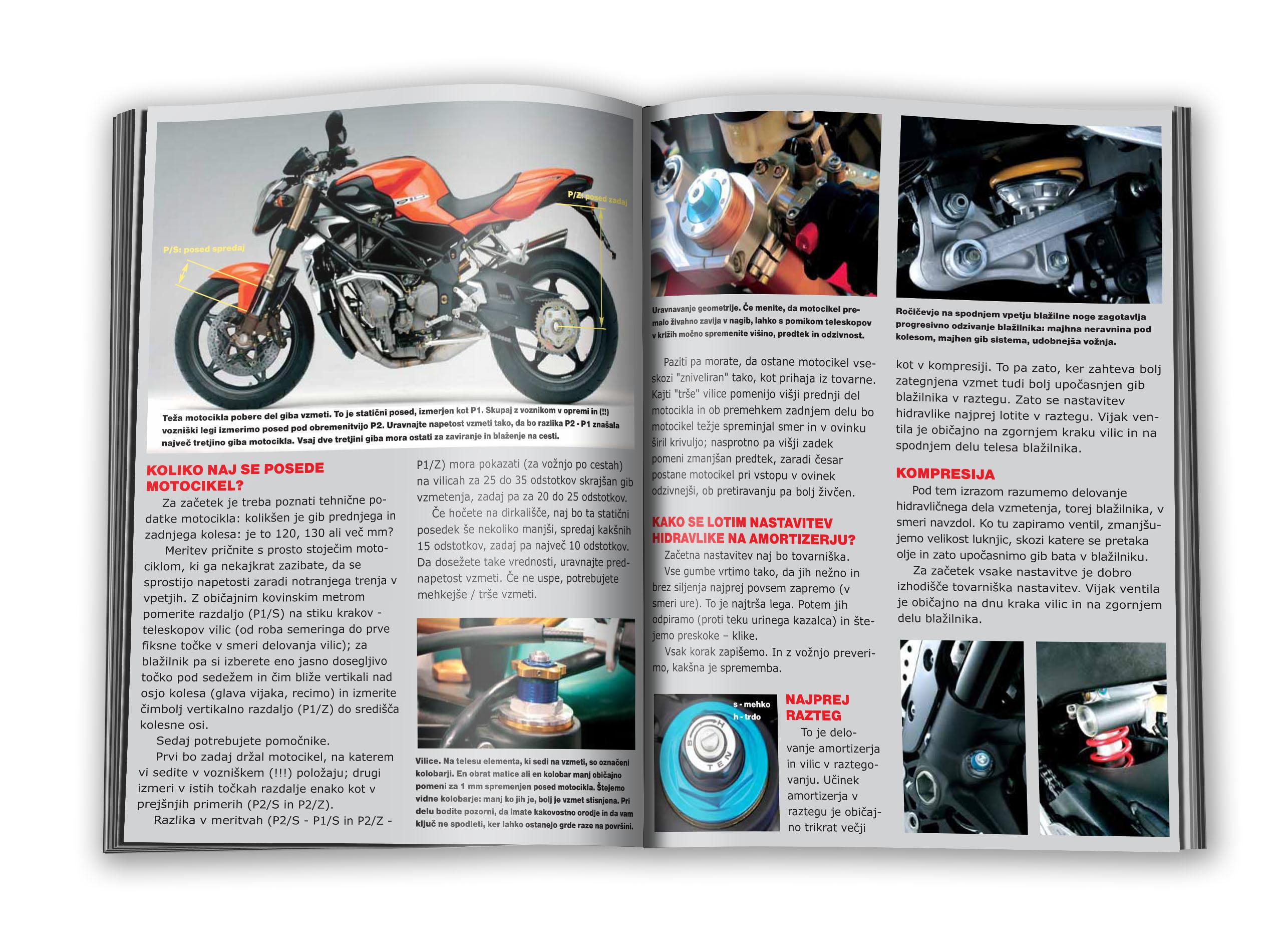 Izsek iz vsebine priročnika Magisterij vožnje motocikla