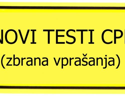 Teorija CPP – priprava na republiške teste CPP