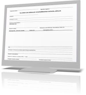 Vloga za podaljšanje vozniškega dovoljenja