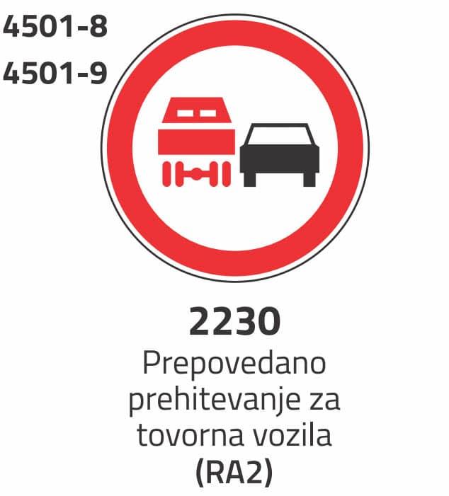 Prepoved prehitevanja za tovorna vozila